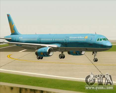 Airbus A321-200 Vietnam Airlines for GTA San Andreas back left view