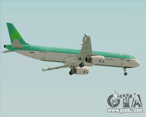 Airbus A321-200 Aer Lingus for GTA San Andreas upper view