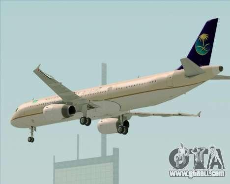 Airbus A321-200 Saudi Arabian Airlines for GTA San Andreas right view