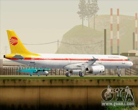 Airbus A321-200 Continental Airlines for GTA San Andreas wheels