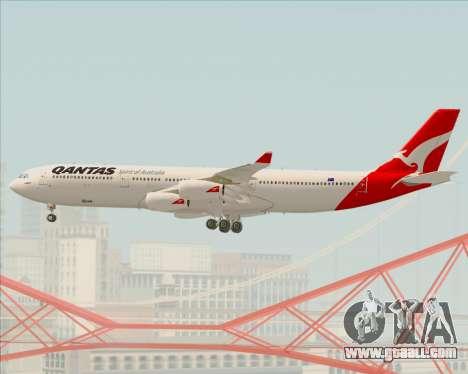 Airbus A340-300 Qantas for GTA San Andreas upper view