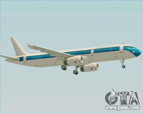 Airbus A321-200 American Pacific Airways for GTA San Andreas bottom view