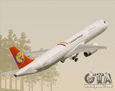Airbus A321-200 TransAsia Airways for GTA San Andreas