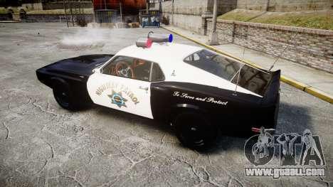 Shelby GT500 428CJ CobraJet 1969 Police for GTA 4 left view