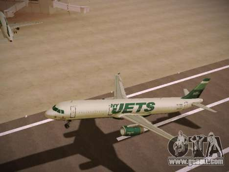 Airbus A321-232 jetBlue NYJets for GTA San Andreas wheels