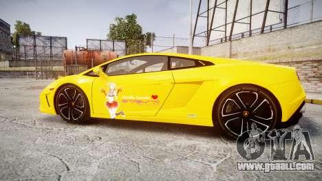 Lamborghini Gallardo 2013 Honoka Kousaka for GTA 4 left view
