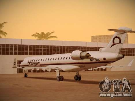 Bombardier CRJ-700 Horizon Air for GTA San Andreas bottom view