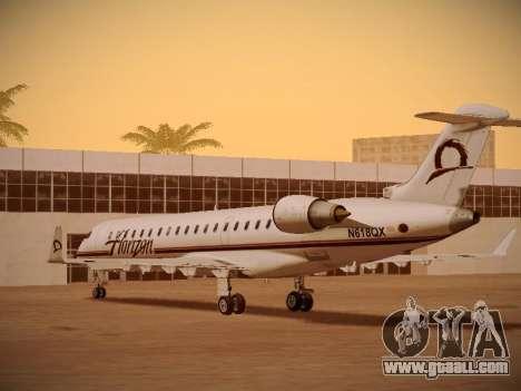 Bombardier CRJ-700 Horizon Air for GTA San Andreas bottom view