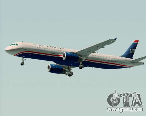Airbus A321-200 US Airways for GTA San Andreas side view
