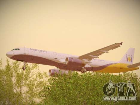 Airbus A321-232 Monarch Airlines for GTA San Andreas inner view