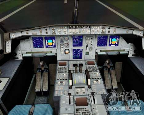 Airbus A340-600 EVA Air for GTA San Andreas interior