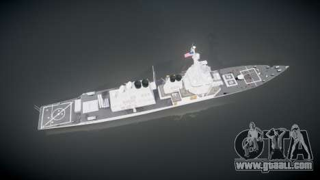 US Navy Destroyer Arleigh Burke for GTA 4 right view
