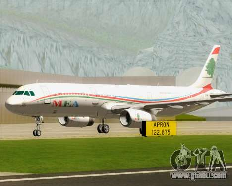 Airbus A321-200 Middle East Airlines (MEA) for GTA San Andreas upper view