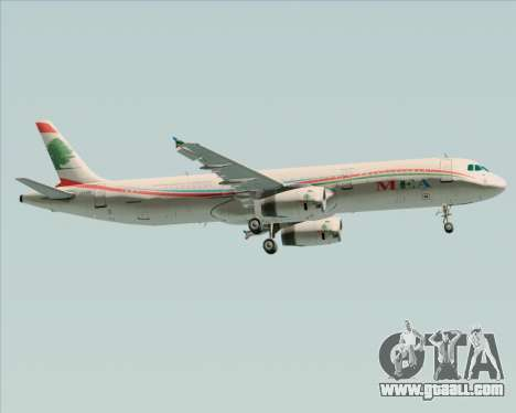 Airbus A321-200 Middle East Airlines (MEA) for GTA San Andreas right view