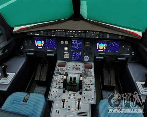 Airbus A321-200 Continental Airlines for GTA San Andreas interior
