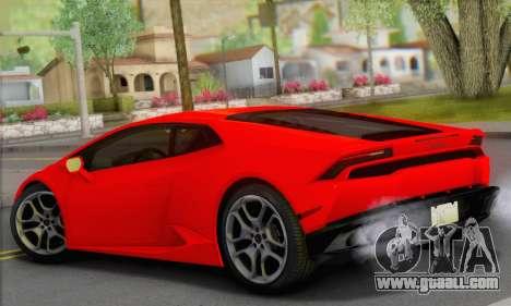 Lamborghini Huracan 2014 Type 2 for GTA San Andreas left view