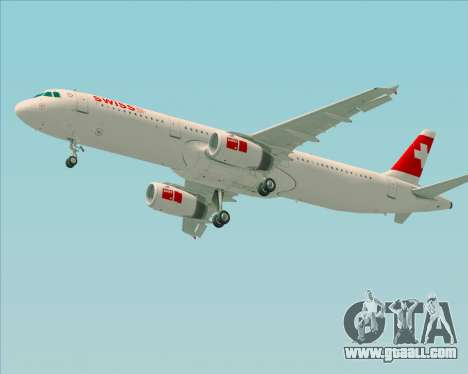 Airbus A321-200 Swiss International Air Lines for GTA San Andreas bottom view