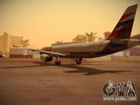 Airbus A321-232 Czech Airlines for GTA San Andreas back view