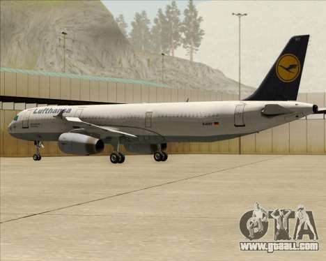 Airbus A321-200 Lufthansa for GTA San Andreas wheels