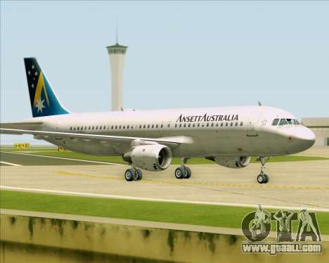 Airbus A320-200 Ansett Australia for GTA San Andreas left view