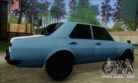 Vulcar Warrener V2 for GTA San Andreas left view