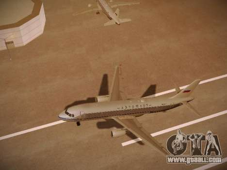 Airbus A320-214 Aeroflot Retrojet for GTA San Andreas upper view