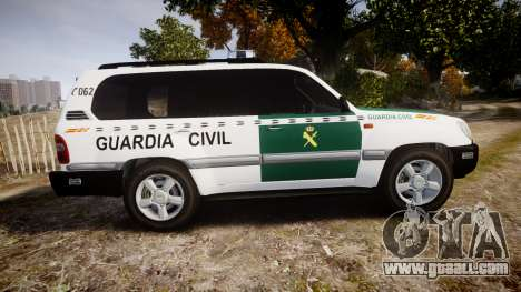 Toyota Land Cruiser Guardia Civil Cops [ELS] for GTA 4 left view