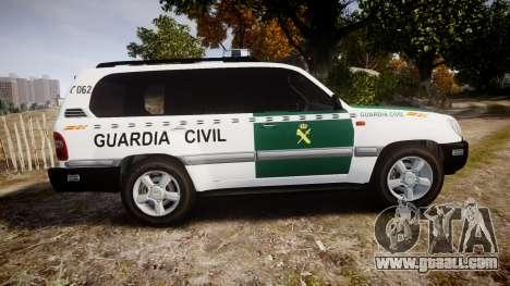 Toyota Land Cruiser Guardia Civil Cops [ELS] for GTA 4 left view
