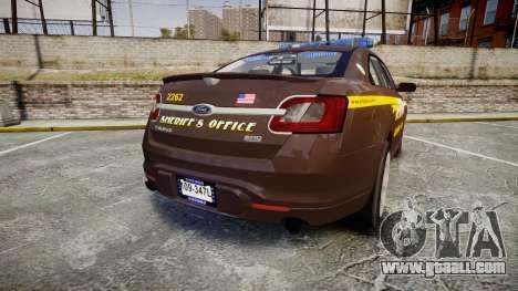 Ford Taurus Sheriff [ELS] Virginia for GTA 4 back left view