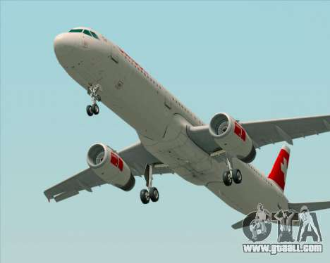 Airbus A321-200 Swiss International Air Lines for GTA San Andreas back left view