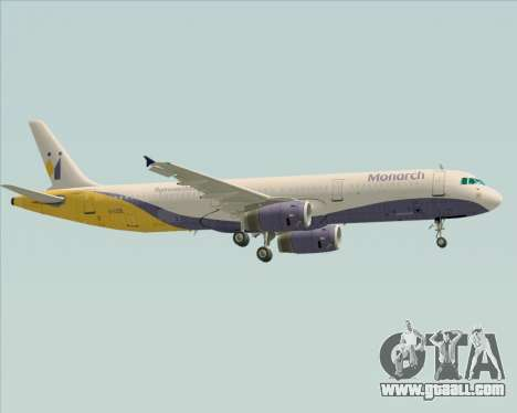 Airbus A321-200 Monarch Airlines for GTA San Andreas right view