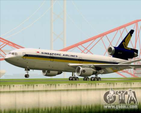 McDonnell Douglas DC-10-30 Singapore Airlines for GTA San Andreas back view