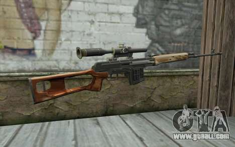 Sniper Rifle Dragunov for GTA San Andreas second screenshot