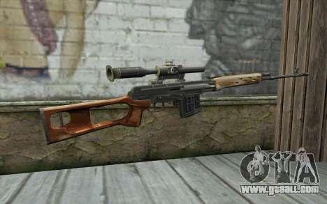 Sniper Rifle Dragunov for GTA San Andreas second screenshot