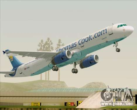 Airbus A321-200 Thomas Cook Airlines for GTA San Andreas wheels