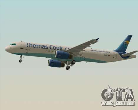 Airbus A321-200 Thomas Cook Airlines for GTA San Andreas back left view