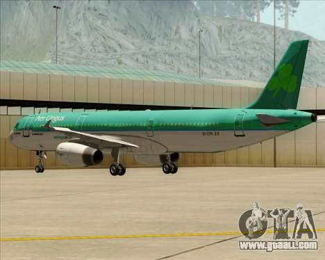 Airbus A321-200 Aer Lingus for GTA San Andreas side view