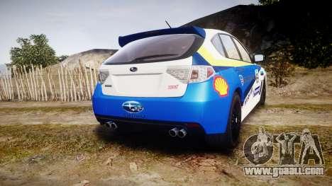 Subaru Impreza Cosworth STI CS400 2010 Custom for GTA 4 back left view