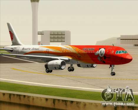 Airbus A321-200 Air China (Beautiful Sichuan) for GTA San Andreas inner view