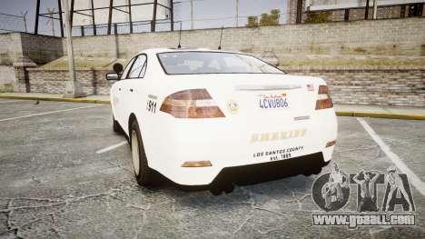 GTA V Vapid Interceptor LSS White [ELS] Slicktop for GTA 4 back left view