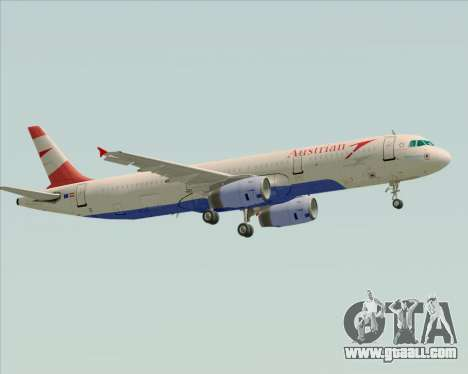 Airbus A321-200 Austrian Airlines for GTA San Andreas right view