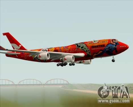 Boeing 747-400ER Qantas (Wunala Dreaming) for GTA San Andreas side view
