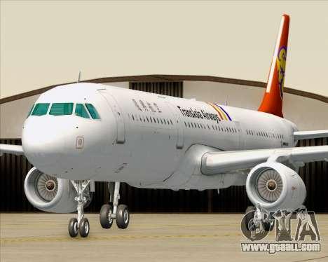 Airbus A321-200 TransAsia Airways for GTA San Andreas wheels