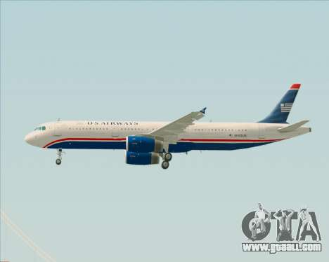 Airbus A321-200 US Airways for GTA San Andreas wheels