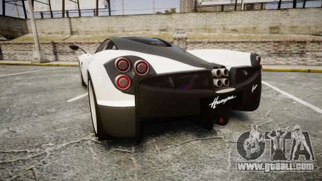 Pagani Huayra 2013 [RIV] Carbon for GTA 4 back left view
