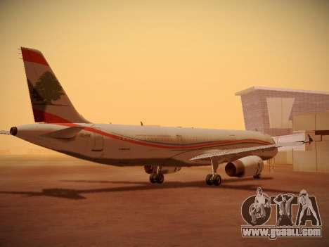 Airbus A321-232 Middle East Airlines for GTA San Andreas right view