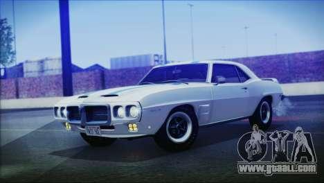Pontiac Firebird Trans Am Coupe (2337) 1969 for GTA San Andreas back left view
