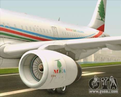 Airbus A321-200 Middle East Airlines (MEA) for GTA San Andreas engine