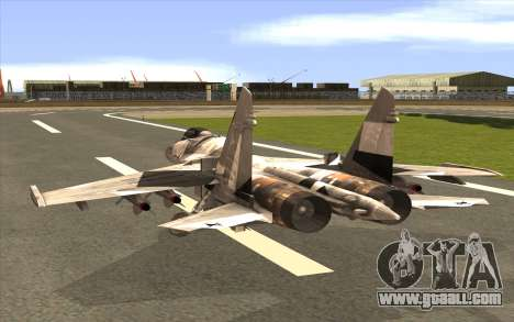 Sukhoi SU-35 BF3 for GTA San Andreas left view