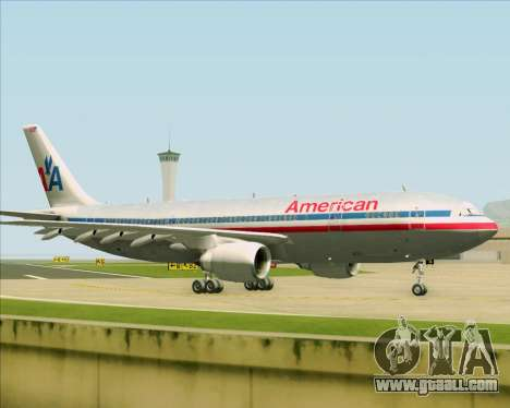 Airbus A300-600 American Airlines for GTA San Andreas inner view